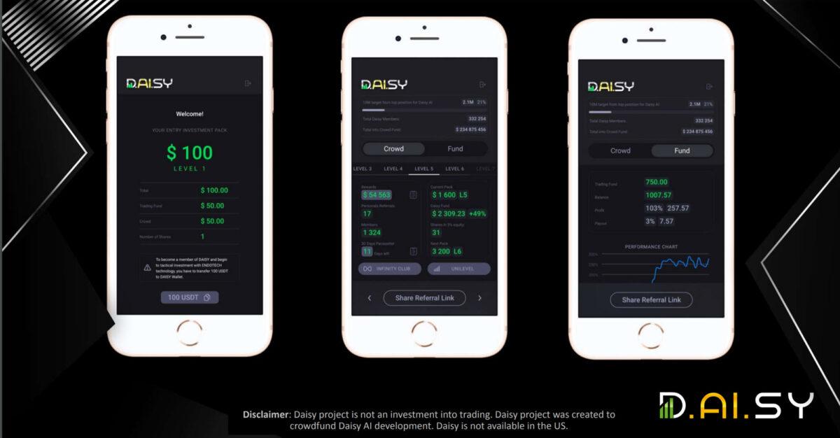 DAISY Tron Decentralized Smart Contract App